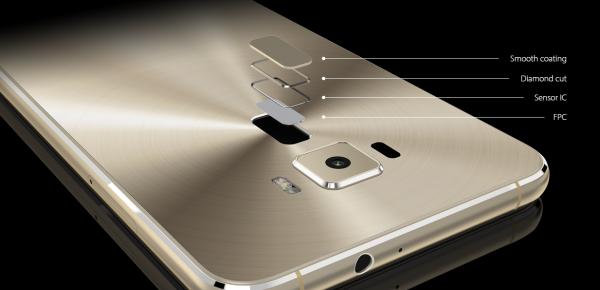 Zenfone 3指紋認証センサー